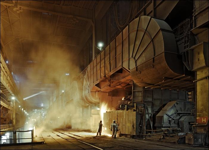 konvertorová ocelárna, ArcelorMittal Galati, Rumunsko, 09/2008