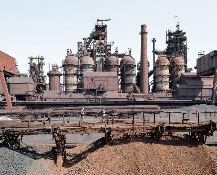 vysoké pece, Kosogorskij metalurgičeskij zavod, Tula, Rusko, 05/2014